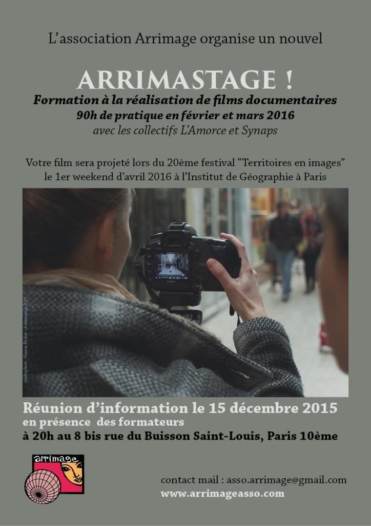 affiche réunion d'info arrimastage 2016